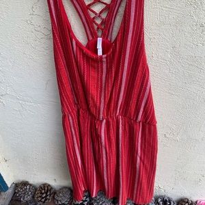 Plus size: Red summer dress, size 3x